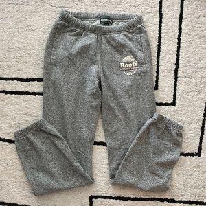 ROOTS Gray Salt and Pepper Original Sweatpants